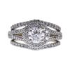 0.93 ct. Round Cut Bridal Set Ring, F, I1 #3