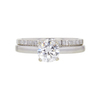 0.73 ct. Round Cut Bridal Set Ring, F, VVS1 #3