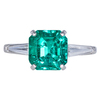 3.23 ct. Emerald Cut Solitaire Ring, Green, SI2-I1 #2