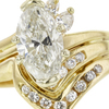 1.65 ct. Marquise Cut Bridal Set Ring, I, I1 #4