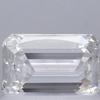 0.73 ct. Emerald Cut 3 Stone Ring, F, VVS1 #2