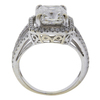 3.09 ct. Cushion Cut Halo Ring, J, SI1 #3