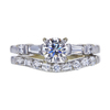 0.60 ct. Round Cut Bridal Set Ring, H, VS2 #3