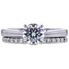 1.09 ct. Round Modified Brilliant Cut Bridal Set Ring, E, I1 #1