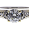 1.05 ct. Round Cut Bridal Set Ring, J-K, SI2-I1 #1
