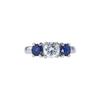 1.01 ct. Round Cut 3 Stone Ring, E, VS2 #3