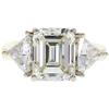 6.16 ct. Emerald Cut 3 Stone Ring, K, VVS2 #3