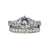 1.14 ct. Round Cut Bridal Set Ring, I, SI2 #3