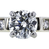 0.91 ct. Round Cut Bridal Set Ring, H, SI1 #4