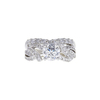 1.11 ct. Round Cut Bridal Set Ring, G, I1 #3