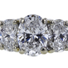 0.90 ct. Oval Cut 3 Stone Ring, E, SI2 #4