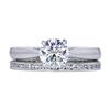 0.92 ct. Round Cut Bridal Set Ring, F, SI1 #3