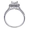 1.21 ct. Princess Cut Halo Ring, G, SI1 #1