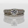 1.09 ct. Round Cut Bridal Set Ring #2