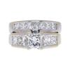 0.95 ct. Princess Cut Bridal Set Ring, G-H, I1 #2