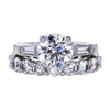2.05 ct. Round Cut Bridal Set Ring, D, VS2 #3