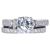 1.28 ct. Round Cut Bridal Set Ring, H, SI2 #3