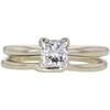 0.85 ct. Princess Cut Bridal Set Ring, G-H, SI1 #1
