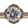1.02 ct. Round Cut Halo Ring, I, SI1 #4