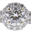1.8 ct. Round Cut Halo Ring, H, SI1 #4