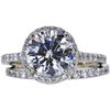 2.01 ct. Round Cut Bridal Set Ring, G, SI1 #2