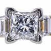 2.03 ct. Princess Cut 3 Stone Ring, E, SI1 #4