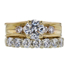 1.08 ct. Round Cut Bridal Set Ring, I, I1 #3
