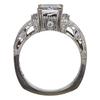 1.1 ct. Princess Cut Bridal Set Ring, E, VS1 #4