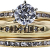 0.76 ct. Round Cut Bridal Set Ring, F, VS2 #4