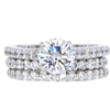 1.03 ct. Round Cut Bridal Set Ring, G, I1 #3