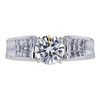 1.01 ct. Round Cut Bridal Set Ring, I, SI2 #3