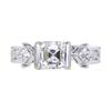 1.04 ct. Asscher Cut 3 Stone Ring #1