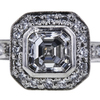 0.78 ct. Asscher Cut Bridal Set Ring, D-E, VS2 #1
