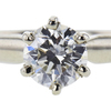 0.91 ct. Round Cut Solitaire Ring, G, I2 #4