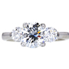 2.01 ct. Round Cut 3 Stone Ring, I, SI1 #1