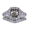 1.06 ct. Princess Cut Bridal Set Ring, F, SI1 #3
