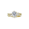 0.72 ct. Round Cut Bridal Set Ring, H, VVS2 #3
