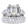 1.50 ct. Oval Cut Bridal Set Ring #1