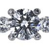 1.22 ct. Round Cut Bridal Set Ring, I, VVS2 #4