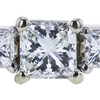 1.00 ct. Radiant Cut 3 Stone Ring, G, VS2 #4