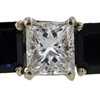1.06 ct. Princess Cut 3 Stone Ring #4