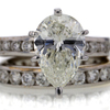 2.51 ct. Pear Cut Bridal Set Ring #1