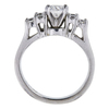0.54 ct. Round Cut 3 Stone Ring, F-G, VS2-SI1 #3