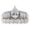 0.83 ct. Pear Cut Bridal Set Ring, E, VS2 #3