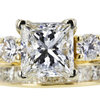1.04 ct. Princess Cut Bridal Set Ring, H, VS1 #4