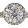 1.4 ct. Round Cut Bridal Set Ring, F, I1 #4