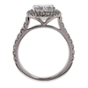 2.71 ct. Cushion Cut Halo Ring #3
