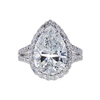 5.03 ct. Pear Cut Halo Ring, G, SI2 #3