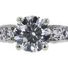 0.97 ct. Round Cut Bridal Set Ring, H, SI2 #4
