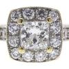 0.91 ct. Princess Cut Bridal Set Ring, F-G, SI2 #1